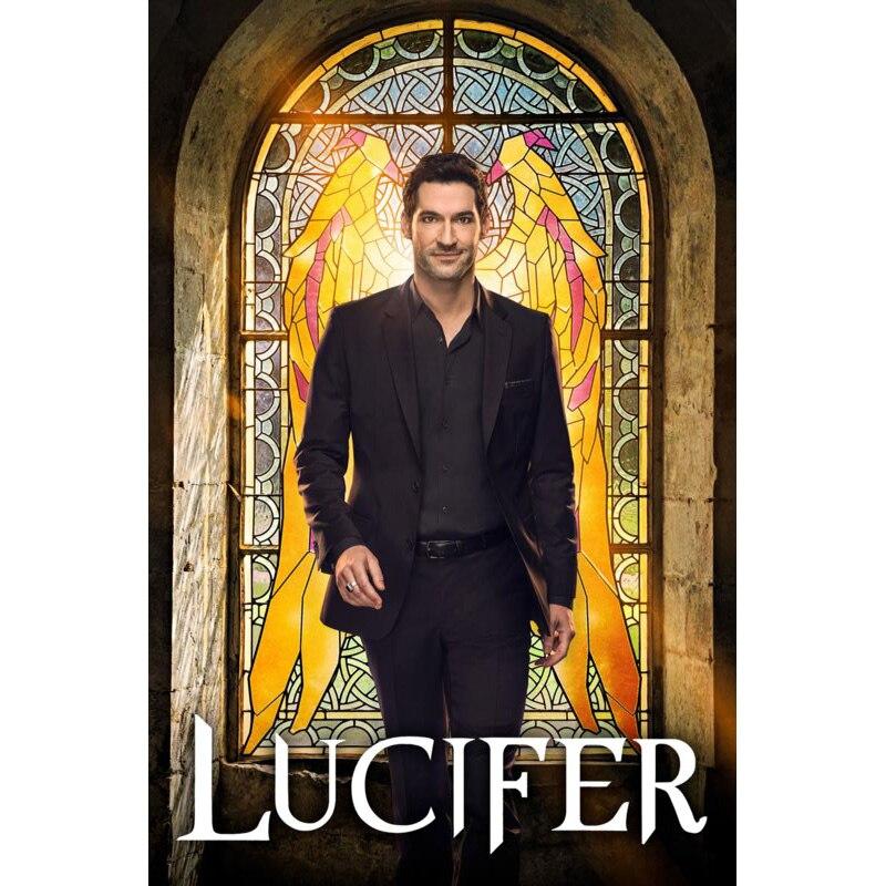¡Superventas! Póster de TV Lucifer sobre lienzo, póster personalizado sobre lienzo, decoración del hogar, póster artístico para pared de tela para boda