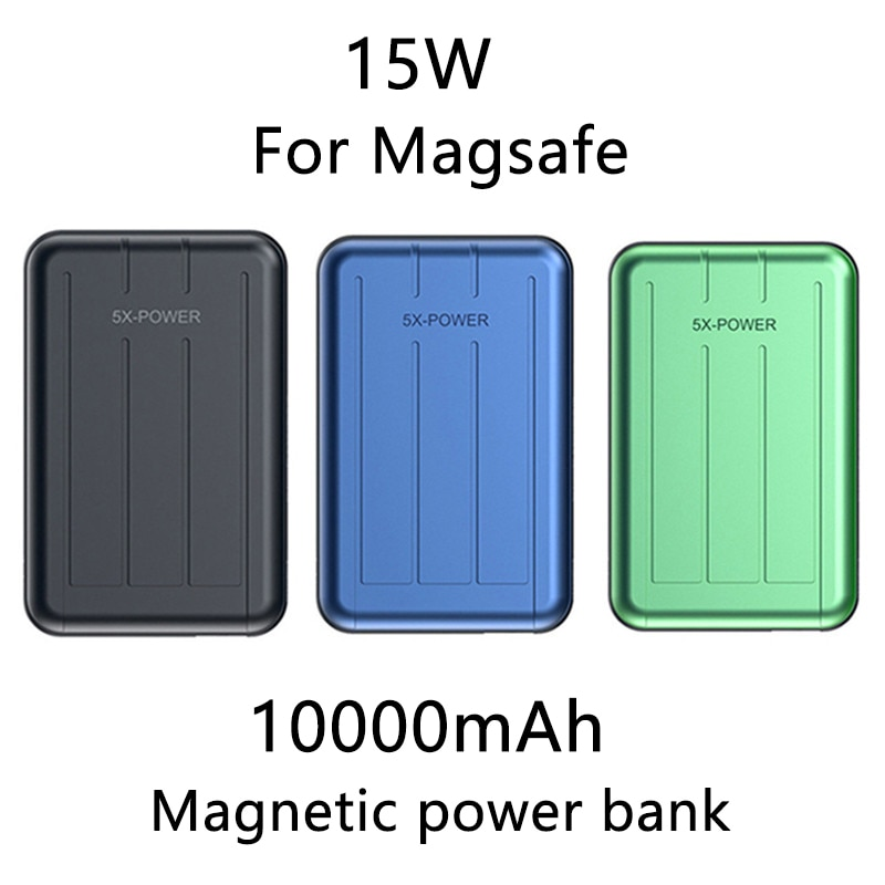 Magnetic Wireless Charger Power Bank 10000mAh Powerbank PD USB C Quick Charge External Battery for i