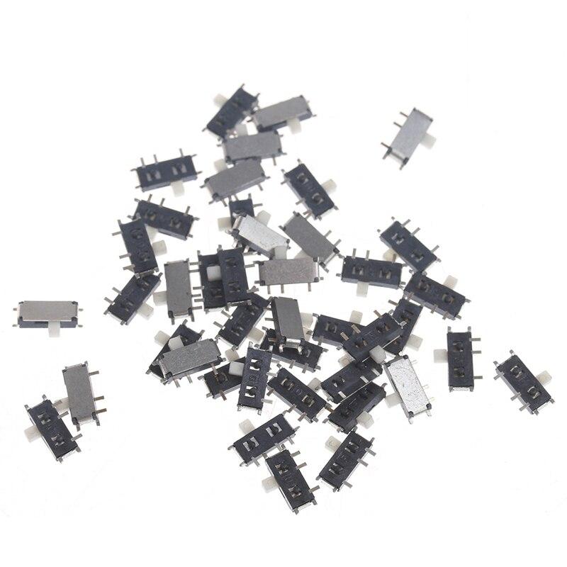 Venta caliente 50 piezas Mini 7-Pin On/Off 1P2T SPDT MSK-12C02 SMD interruptor deslizante de palanca para MP3 MP4 nuevo 2019