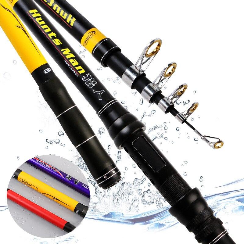 Nueva caña de pescar de fibra de carbono YANCY 2020 superdura Ultra ligera 2,1 m 2,4 m 2,7 m 3,0 m 3,6 m caña de pescar telescópica