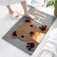 cartoon 3d animal shape home flocked door mat doorway bathroom toilet thick absorbent non slip floor rug