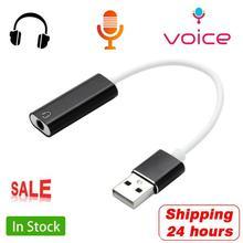 HIFI 7,1 CH USB externe Audio Soundkarte USB zu 3,5mm Jack Audio Adapter Headset Lautsprecher Mikrofon für PS3 macbook Computer PC