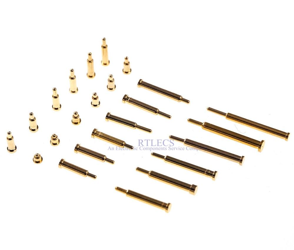 موصل دبوس بوجو ، 1000 قطعة ، إبرة اتصال SMD محملة بنابض ، 2 3 4 5 6 7 8 9 10 مجسات مطلية بالذهب ، شفة 2.0 مللي متر ، سطح تثبيت