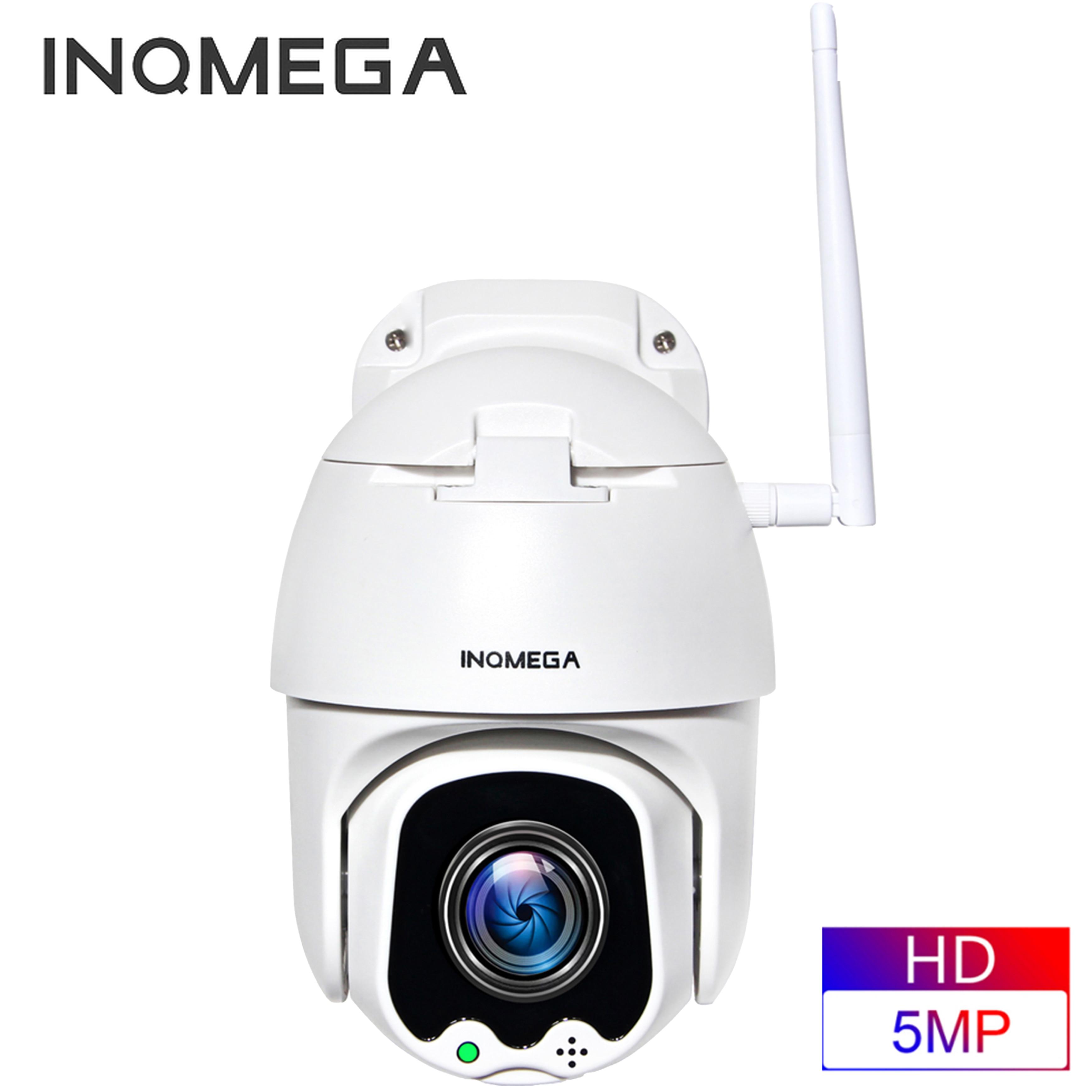 INQMEGA 5MP FHD PTZ inteligente de vigilancia IP cámara domo de alta velocidad WiFi inalámbrico 4X Digital ZOOMOutdoor DE SEGURIDAD impermeable CÁMARA DE CCTV
