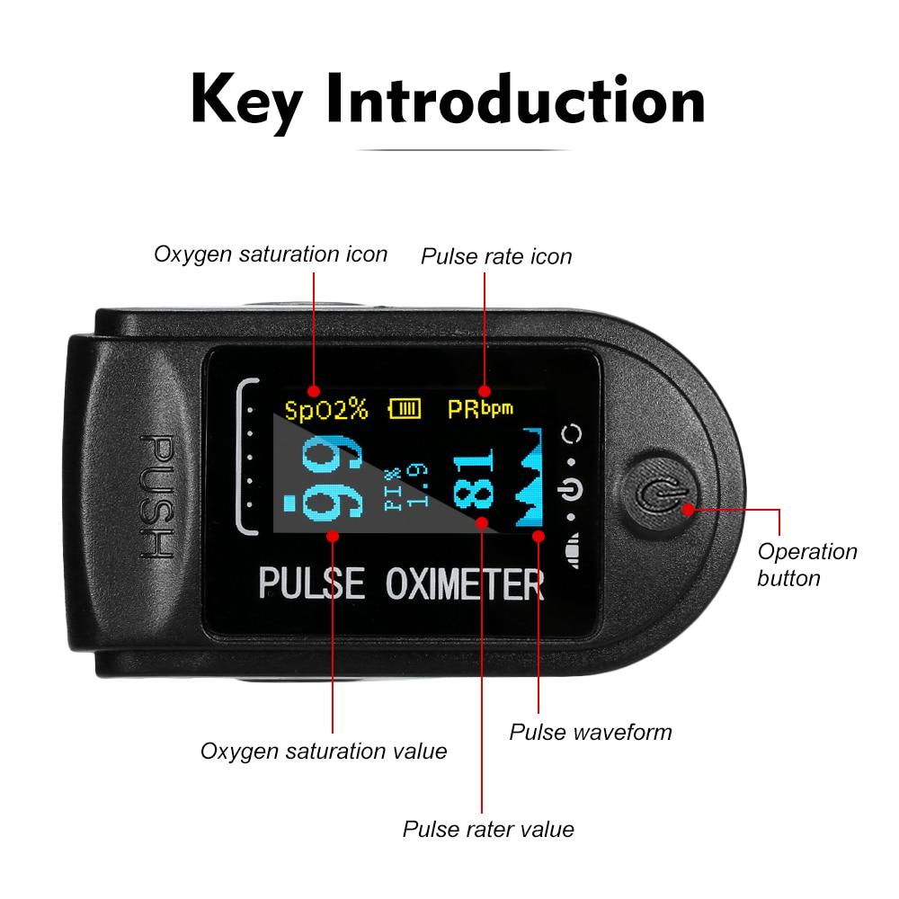 Medical Household Digital Finger Pulse Oximeter Blood Oxygen Saturation Meter heart rate Monitor Health Care tonometer