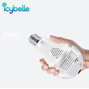 Icybelle Lamb Camera 1080P 360 Degree LED  Light Videocam Wifi Panorama  Bulb CCTV IP Video Surveillance Fisheye Smart Home