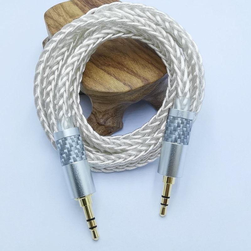 Cable de Audio B8 Jack 3,5 de 3,5mm Cable auxiliar de línea de altavoz para teléfono auricular de coche Cable de Audio Jack para amplificador DAP DA