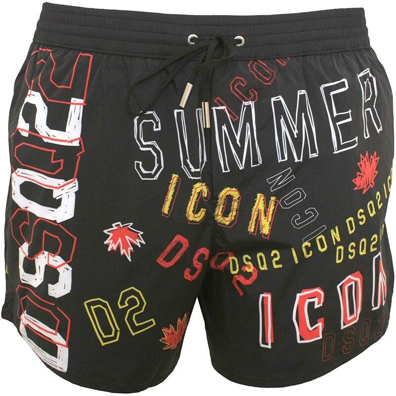 Мужские модные пляжные шорты дышащий Быстросохнущий штаны Jogger брендовые шорты мужские Свободные Письмо печати ультра-тонкий уличная S-2XL