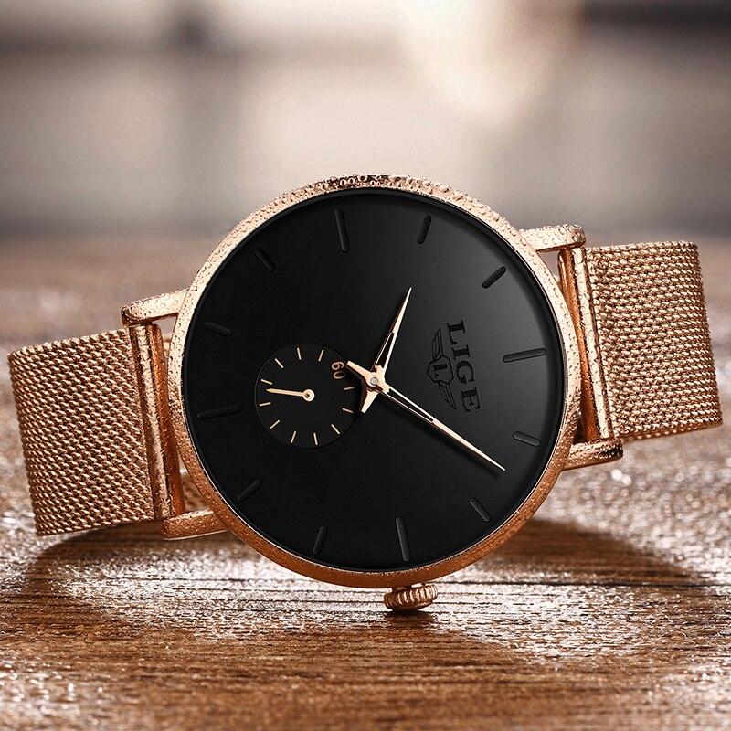 2020LIGE Brand Luxury Women Casual Watch Waterproof Wristwatch Women Fashion Dress Full Stainless Steel Ladies Clock Reloj Mujer enlarge