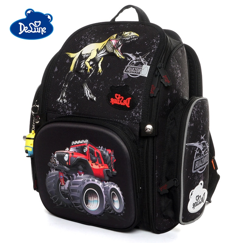 Mochilas de escuela para niñas Delune nuevo modelo 3D SUV mochilas de escuela para niñas Mochila para de coche de dibujos animados mochilas ortopédicas para niños Mochila Infantil primaria