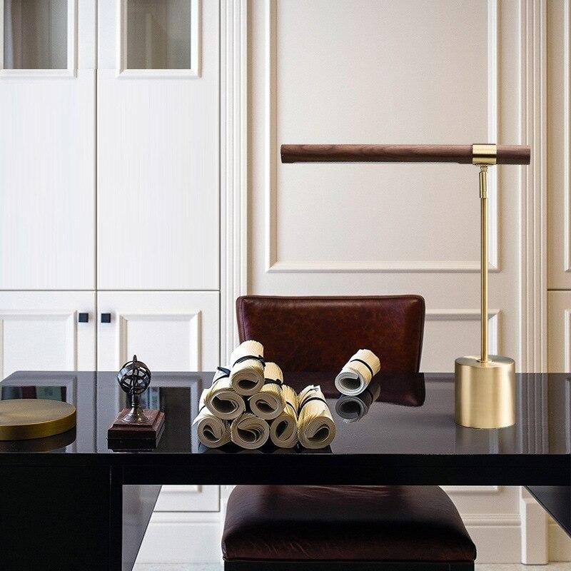 2021 New Indoor Lighting Adjustable Led Table Lamp Bedroom Bedside Led Light Nordic Lighting Fashionable Wooden Table Light enlarge