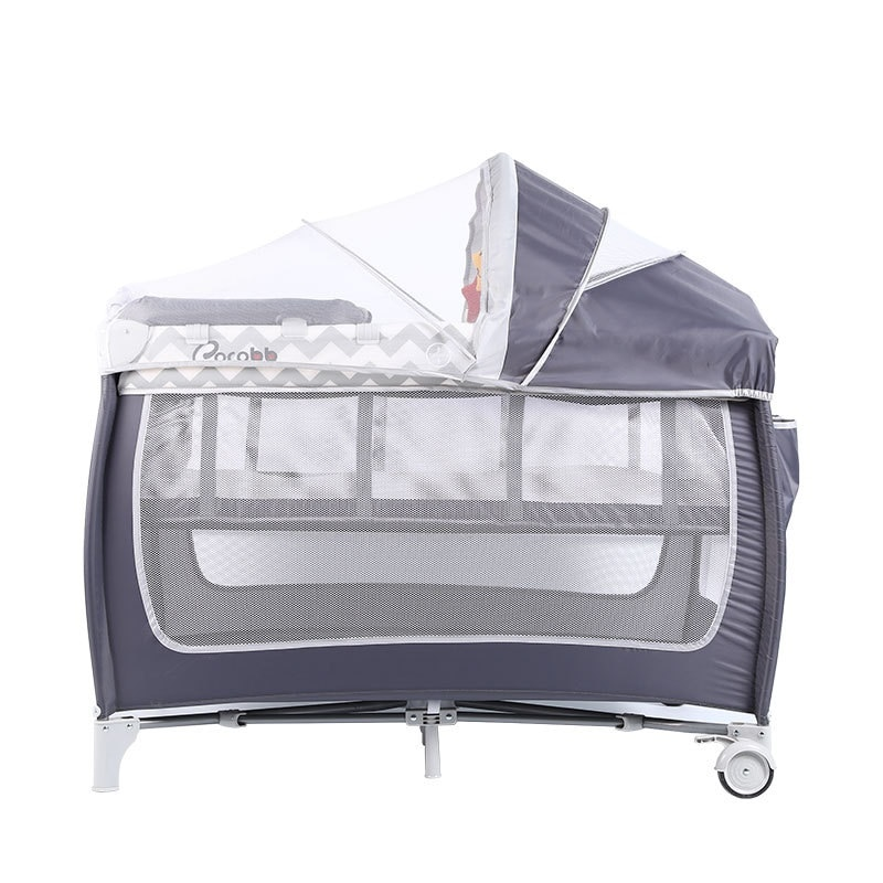 LazyChild New Baby Crib Folding Large Bed Removable Multifunctional Portable Folding Newborn Baby Game Bed Cradle Bed Nest 2021