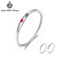925 sterling silver round rings simple heart shape finger rings for women wedding engagement jewelry lam hub fong