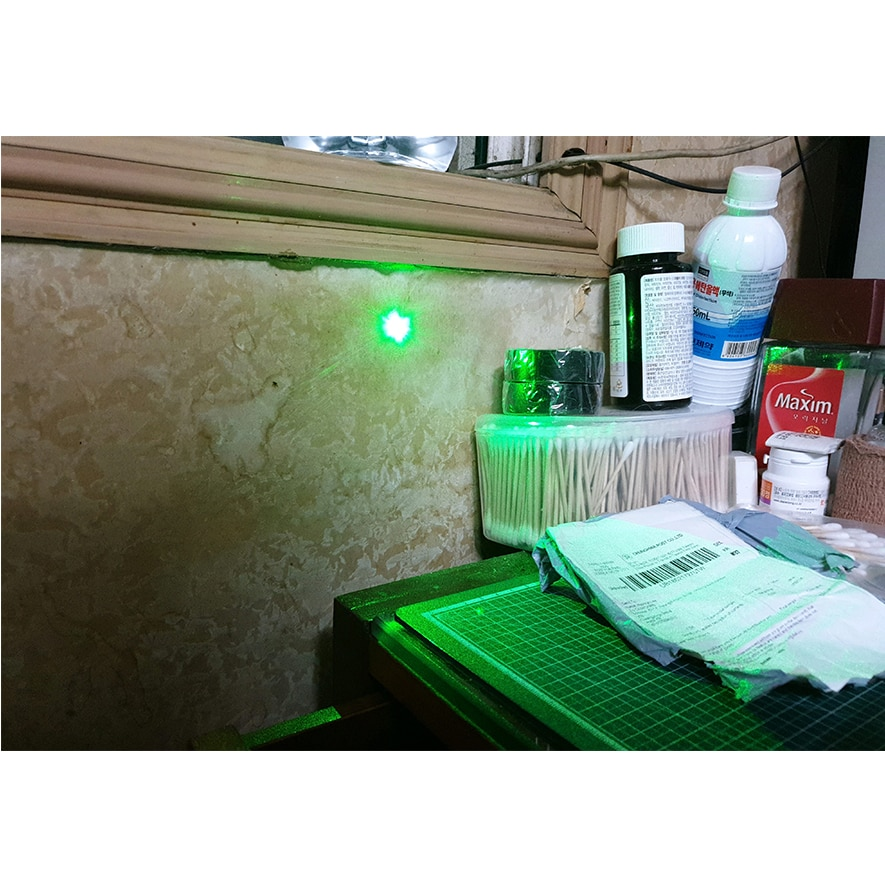 Escáner 3D 532nm 30 ~ 50mW módulo láser verde Luz de diodo láser 3 ~ 3,7 V 0 ~ 65 C de alta calidad