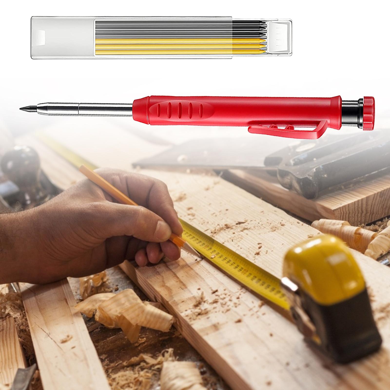 Ручка для деревообработки, фломастер с глубоким отверстием, ручка для рисования, графит, заправка, мини-тип, заправка ленты, 7 стержней, встро...