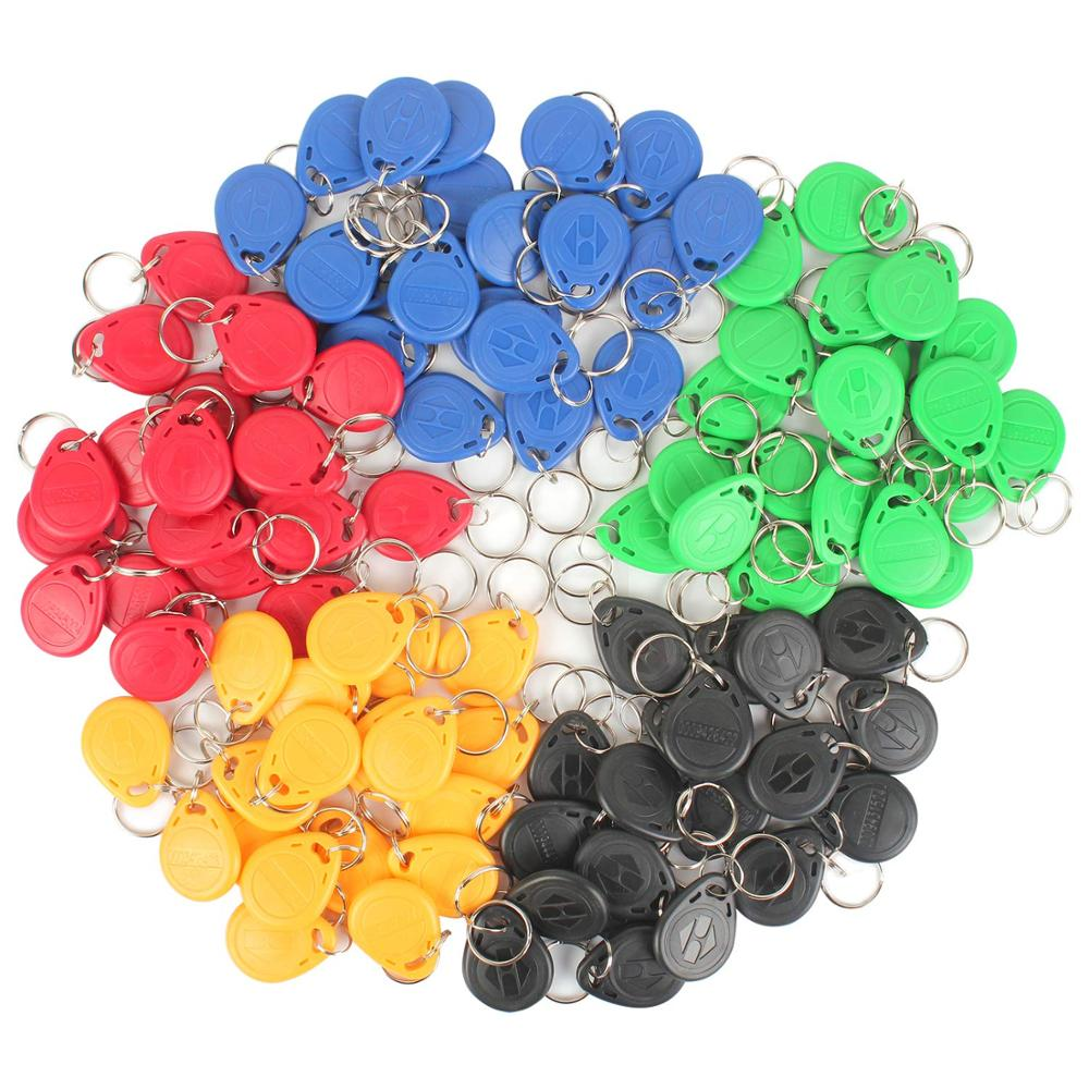 100Pcs RFID Key Fobs, Proximity ID Card Token Tag Keypad Card for Door Entry Access Control System for Security Lock 1pcs access control keypad door lock digital panel rfid card keyboard proximity card reader for door access control system