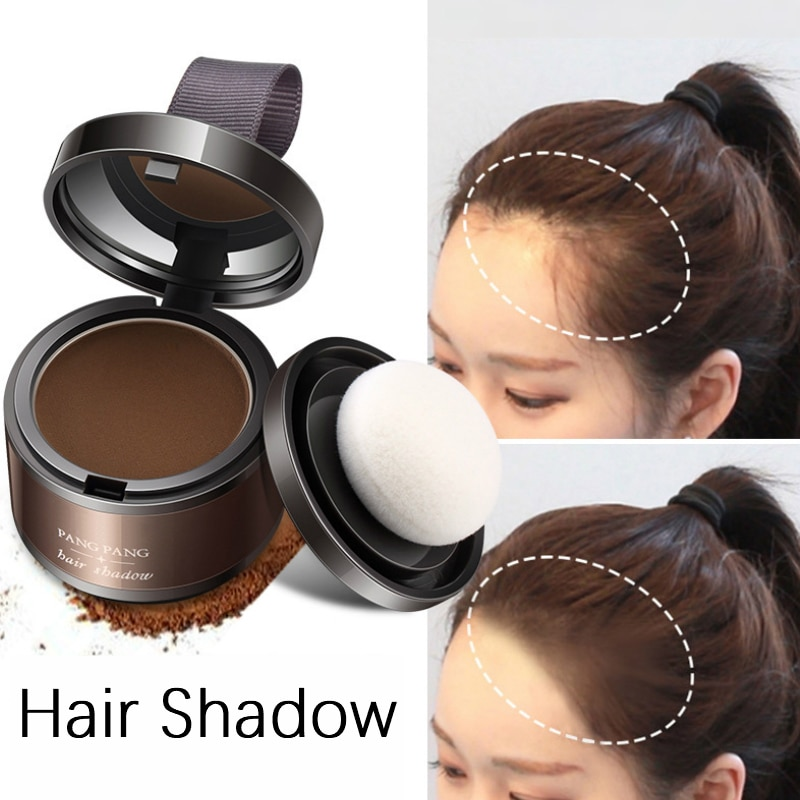 1 Pc Magic Fluffy Thin Hair Powder Pang Pang Hair Line Shadow Makeup Hair Concealer Root Cover Up Unisex Instant Gray Coverage