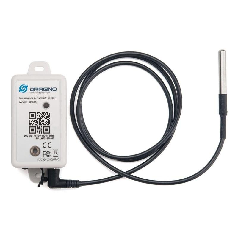 Sensor de temperatura y humedad LHT65 LoRaWAN SHT20 DS18B20 con batería de 2400mAh 831F