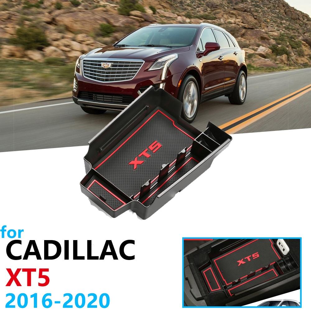 Автомобильный Органайзер, аксессуары для Cadillac XT5 2016 2017 2018 2019 2020, подлокотник, ящик для хранения, Противоскользящий коврик, коробка для монет