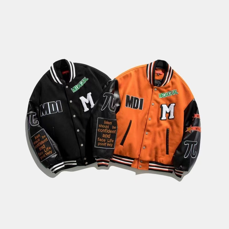 2021 hip-hop, letterman jacket, patch block jacket, men's jacket, short jacket, men's and women's baseball jacket, jacket jacket rodier jacket
