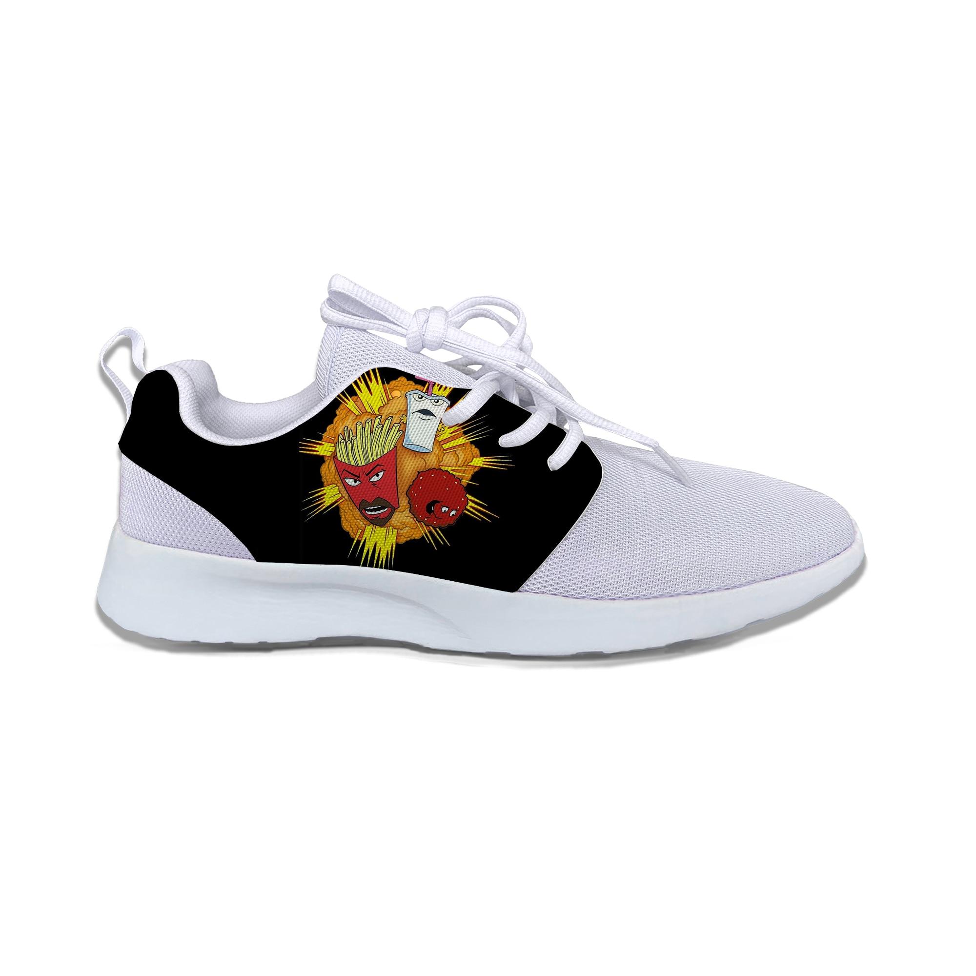 Aire deportivas de correr de malla caliente Aqua Teen Hunger Force clásico zapatos casuales zapatos transpirables zapatillas de deporte atléticos zapatos deportivos al aire libre