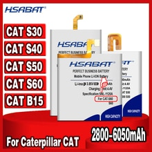 HSABAT 2800mAh-6050mAh for Caterpillar CAT S60 S30 S40 S50 APP-12F-F57571-CGX-111 CUBA-BL00-S50-000 Battery for CAT B15 B15Q  AM