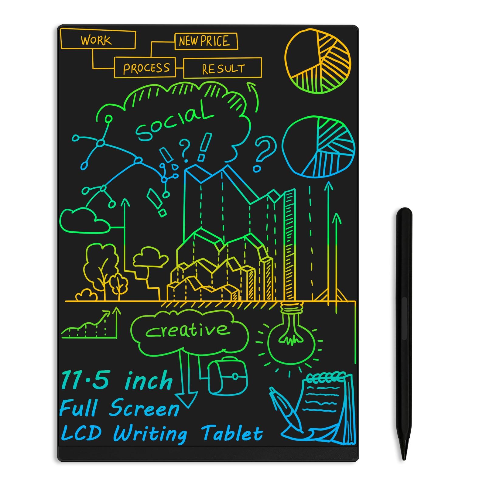 جهاز لوحي للكتابة بشاشة LCD مقاس 11.5 بوصة رفيعة للغاية مع مغناطيس مدمج ولوحة رسم رسومية مبتكرة ولوحة مذكرات للعمل والمنزل