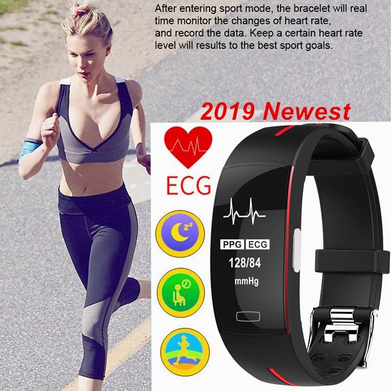 2020 ECG PPG Finess pulsera inteligente Frecuencia Cardíaca presión arterial banda inteligente IP67 actividad impermeable rastreador de sueño pulsera deportiva
