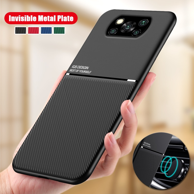 Shockproof Case for Xiaomi POCO X3 NFC Silicone Skin Back case for Pocophone X3 NFC Support Car Magn
