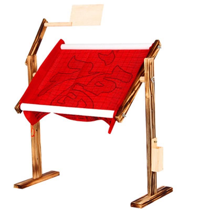 Creative ajustable madera punto de cruz Fram Rack de madera Stand de madera de escritorio de punto de cruz bordado marco chino Herramienta de punto de cruz