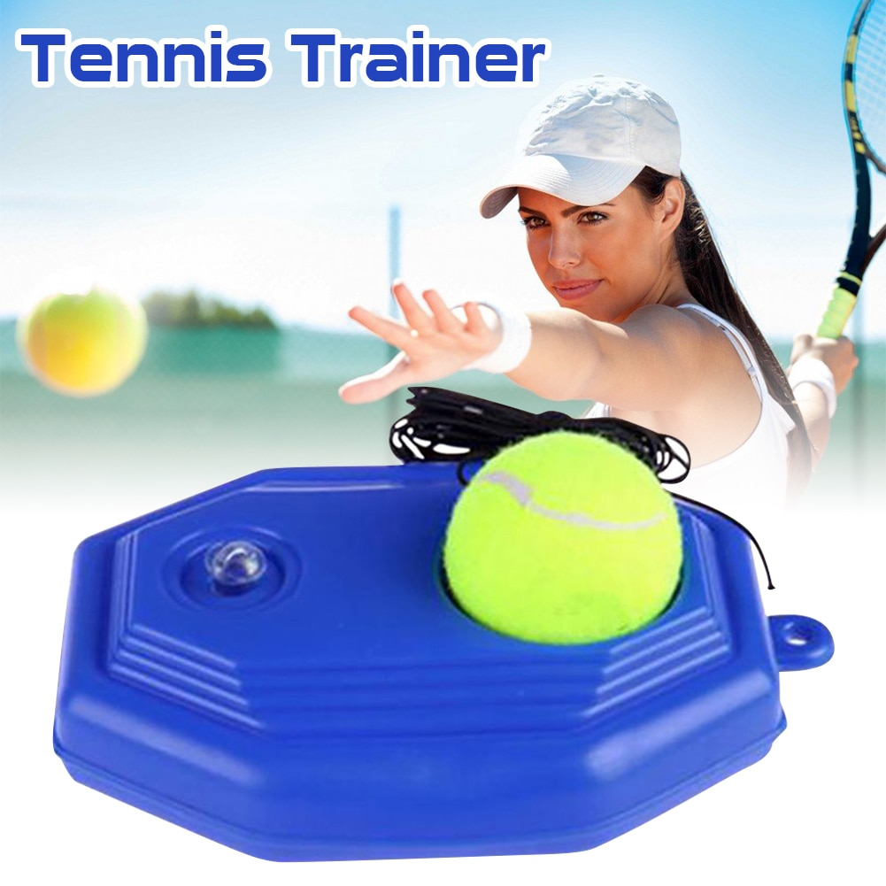 Heavy Duty Tennis Training Aids Base With Elastic Rope Ball Practice Self-Duty Rebound Trainer Partner Sparring Device