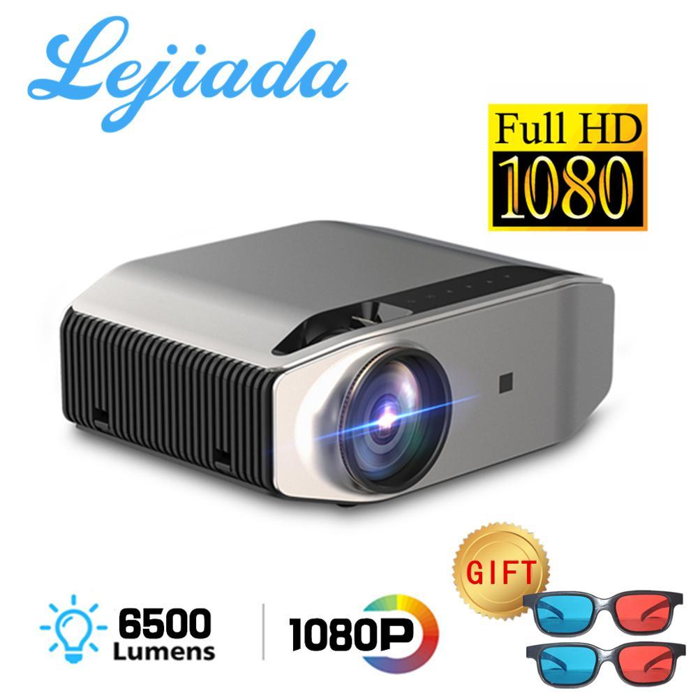 LEJIADA 1080p projetor hd completo yg620 led proyector 1920x1080p vídeo 3d yg621 sem fio wifi multi-tela beamer teatro em casa