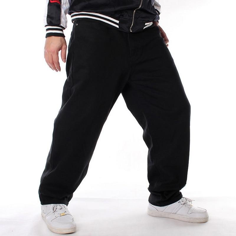 Men's Fashion Comfortable Leisure Long Baggy Jeans High Street Jeans Men Denim Pants Loose Hip Hop Jeans Black Skateboard Pants