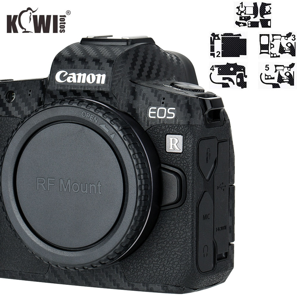 Anti-Scratch Camera Body Cover 3M Sticker Protector for Canon EOS R Anti-Slide Grip Holder Skin Guard Shield Carbon Fiber Film