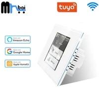 Panneau de verre tactile intelligent Tuya  interrupteur mural sans fil  commande vocale zero simple feu  fonctionne avec Tuya Apple Homekit