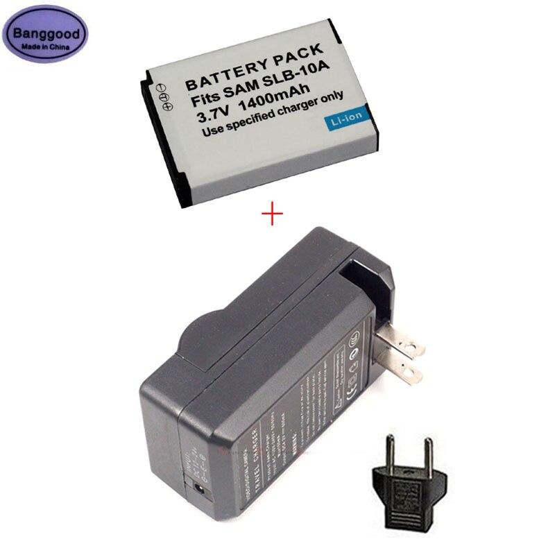 Bateria para Câmera Banggood 10a Slb10a Samsung P800 Sl820 Wb500 Wb550 Hz10w L100 L110 L200 L210 L310w 3.7v 1400mah Slb Slb-10a