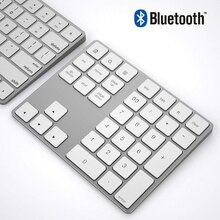SeenDa Rechargble Bluetooth Tastatur Mini Drahtlose Numerische tastatur Bluetooth Aluminium 34 schlüssel Numpad Für Tablet Laptop