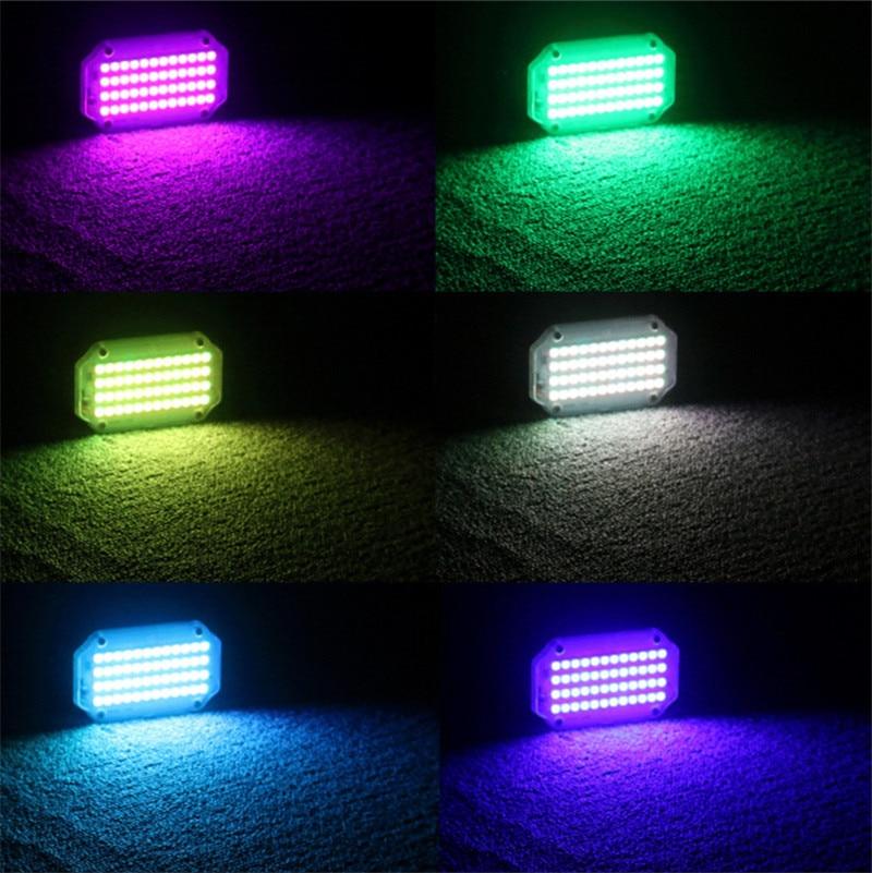 36 светодиод RGB белый стробоскоп свет дискотека DJ вечеринка праздник Рождество музыка клуб звук активирован вспышка сцена освещение эффект 10 Вт вечеринка