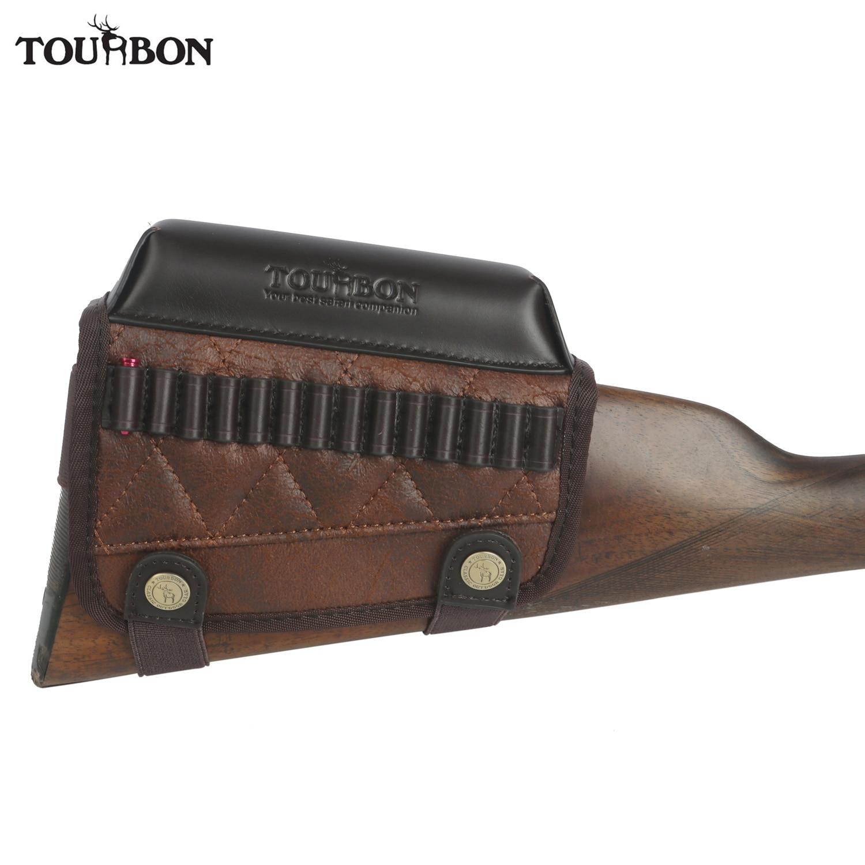AliExpress - Tourbon Hunting Rimfire Rifle .22 LR /17 HMR Cartridges Bullet Ammo Holder Gun Buttstock Cheek Rest Riser Pad Shooting Accessory
