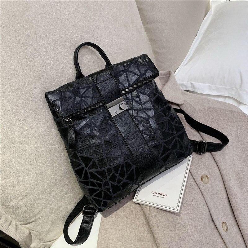 Black Ladies Anti Theft Back Pack Women Leather Backpack Vintage Female School Bags For Teenage Girls Travel Backpack Mochilas