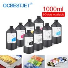 1000 ml/bouteille LED encre UV pour Epson DX4 DX5 DX6 DX7 DX10 tête dimpression pour R1800 R1900 4800 4880 7880 imprimante UV (8 couleurs en option)