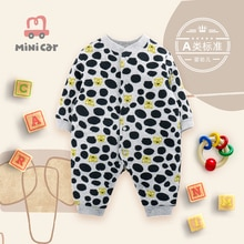 BABY BODYSUIT male baby pure cotton open file climbing clothes new baby romper summer short sleeve