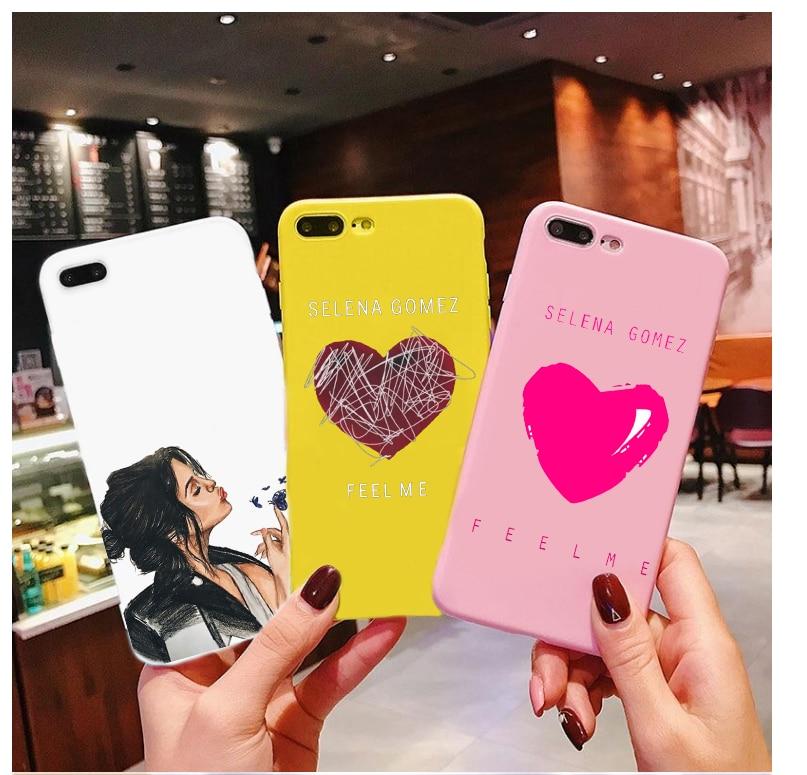Selena gomez-cor de doces raros tpu caso telefone para iphone x 7 xs xr xsma 11 11pro 11promax me sentir caso capa