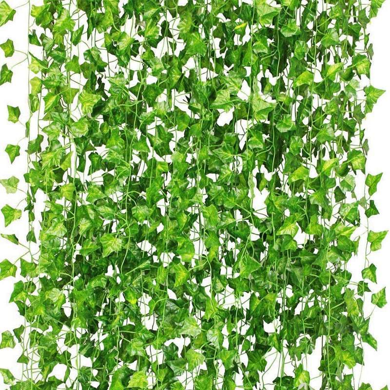 36Pcs Artificial Plants of Vine False Flowers Ivy Hanging Garland for the Wedding Party Home Bar Gar