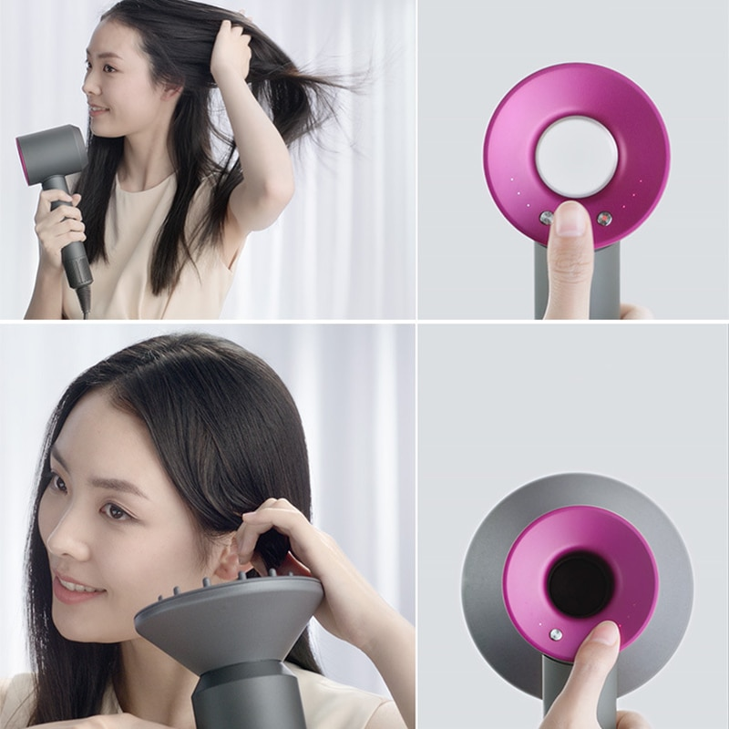 hair dryer Anion salon barber hairdryer blow powerful household travel fast drying negative ions magnetic nozzle mouthpiece enlarge