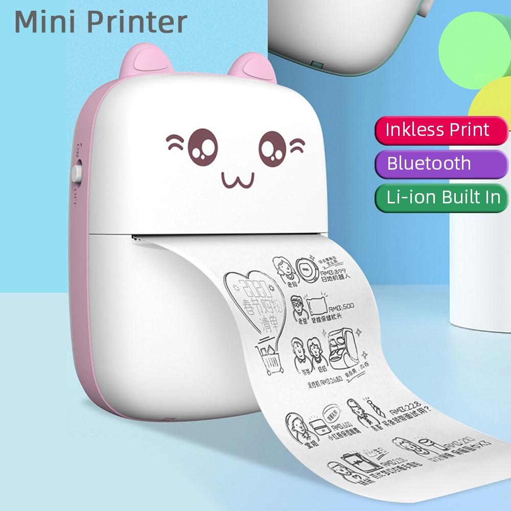 Беспроводной портативный Bluetooth принтер этикеток, мини-принтер карманный HD термопринтер тег фото цена наклеек, быстрая печать, для дома и офи...