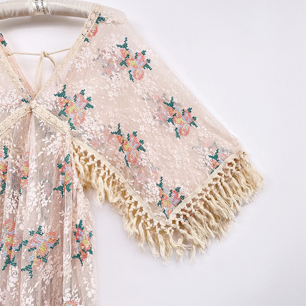 Boho Lace Photo Shoot 4-8 Years Old Little Girl Dresses with Tassels Evening Party Costume for Photography Accessories enlarge