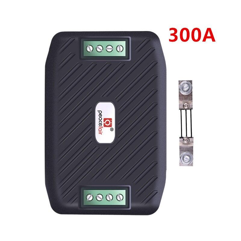 Peacefair dc 300v 300a voltímetro rs485 doos abrangendo stroom kwh energie medidor wattmeter ampermeter encontrou 300a shunt
