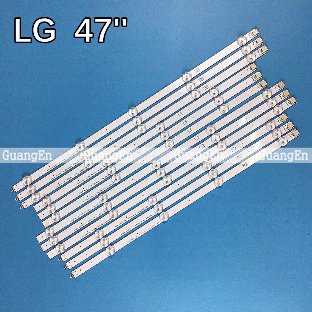 (Новый комплект светодиодный 12шт./компл. R1,L1,R2,L2 47-дюймовая светодиодная подсветка сменная панель для LG 47LN519C 6916L-1174A 6916L-1175A 6916L-1176A 6916L-1177A