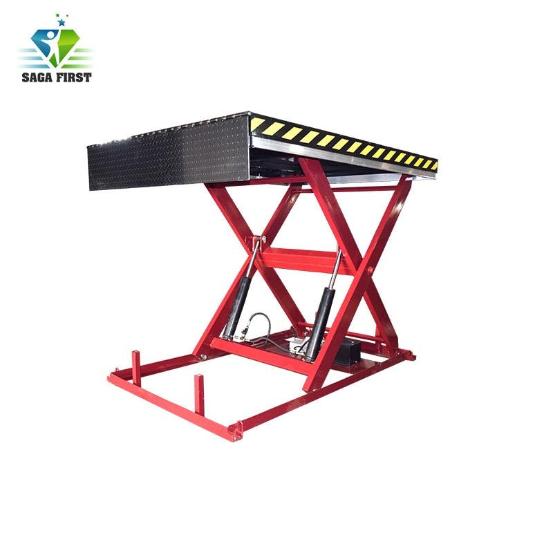 Elevador hidráulico de tijera de plataforma de carga y descarga